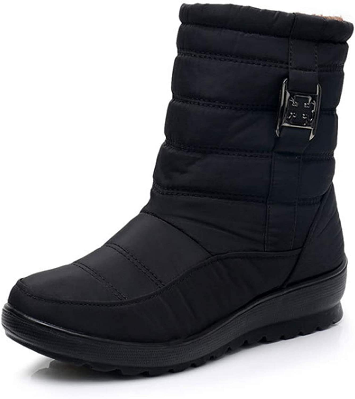 Huicai women's snow boots winter zipper ladies ankle shorts booties