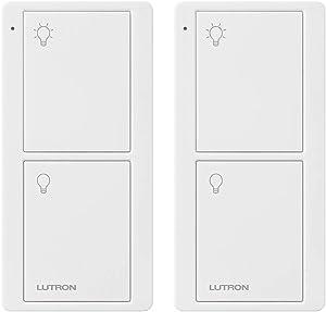 Lutron PJ2-2B-GWH-L01-2 White Pico Remote for Caseta Smart Home Switch (2 Pack)   PJ2-2B-GWH-L01, 2 Count