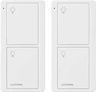 Lutron PJ2-2B-GWH-L01-2 White Pico Remote for Caseta Smart Home Switch (2 Pack) | PJ2-2B-GWH-L01, 2 Count