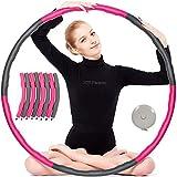 JAMITE Hula Hoop Fitness Desmontable 800g, Hula Hoop Fitness Adultos Niños con 8 Sección, Esponja...