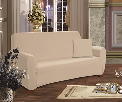 Elegance Linen Collection Luxury Soft Furniture Jersey Stretch SLIPCOVER, Sofa Linen