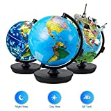 Globe 3 in 1 Illuminated Smart World Globe with Built-in Augmented Reality...