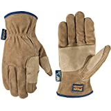 Men's Heavy Duty Genuine Leather Work Gloves, Water-Resistant HydraHyde, Large (Wells Lamont 1019)