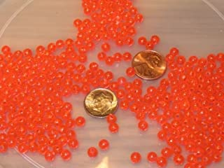 New 100 5MM ROUND FLUORESCENT RED FISHING BULK BEADS TACKLE RIG HOOK BEAD FISH RIGS