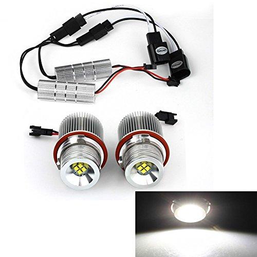 Luces LED de ojo de ángel para el coche, de la marca Katur, color blanco xenón, 2 unidades
