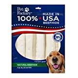 PET FACTORY USA Value-Pack Beefhide 8-Inch Retriever Rolls Chews for Dogs, 10-Pack (Package may Vary))