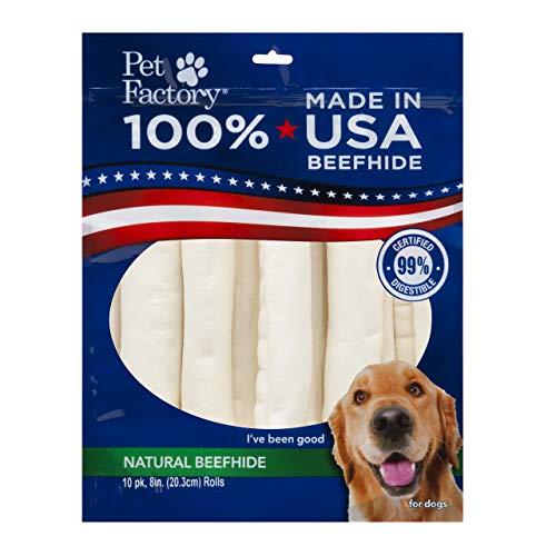 Pet Factory Natural Beefhide Dog Treats 78208,...