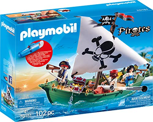 PLAYMOBIL 70151 Pirates Piratenschiff, bunt