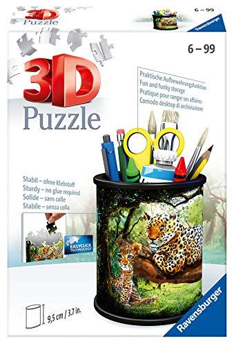 Ravensburger 3D Puzzle 11263 - Utensilo Raubkatzen - 54 Teile - Stiftehalter für Tier-Fans ab 6 Jahren, Schreibtisch-Organizer für Kinder