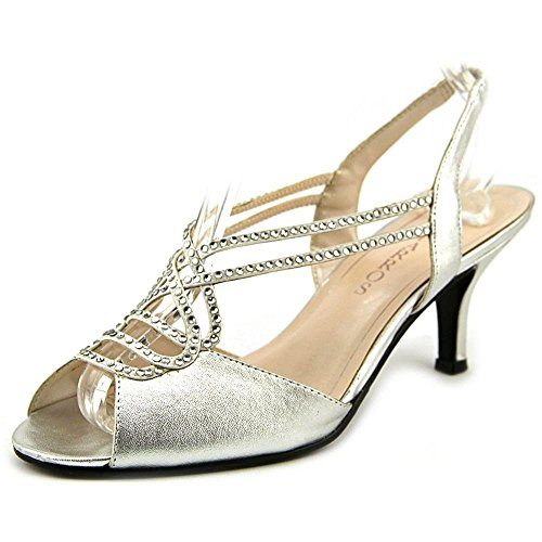 Caparros Philomena Gemmed Slingback Dress Sandals, Silver Metallic, 6.5 US