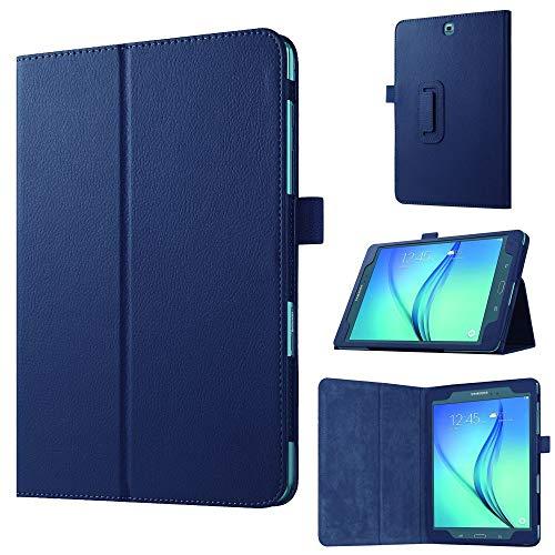 jbTec Tablet-Hülle Schutz-Hülle passend für Samsung Galaxy Tab A 9.7 - Flip-Case Tablet-Tasche Cover Bag Pouch Etui, Farbe:Navy-Blau