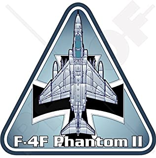 "F-4 PHANTOM II GERMANY Luftwaffe McDonnell Douglas F-4F German AirForce 3,7"" (95mm) Vinyl Sticker, Decal"