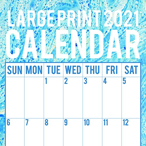 2021 Wall Calendar - Large Print Calendar Calendar, 12 x 12 Inch Monthly View, 16-Month, Home Organisers Theme, Includes 180 Reminder Stickers