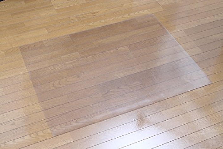 柱ランデブーロック床を保護する チェアマット 120×90cm 1.5mm厚 クリア RCM-120 床暖房 対応 フローリング 畳み 保護
