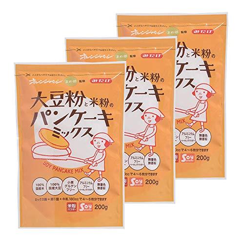 【3袋】みたけ食品 大豆粉と米粉のパンケーキミックス