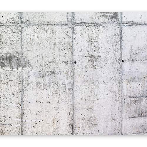 murando Fototapete selbstklebend Betonoptik 392x280 cm Tapete Wandtapete Klebefolie Dekorfolie Tapetenfolie Wand Dekoration Wandaufkleber Wohnzimmer grau f-A-0332-a-a