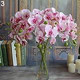 ypypiaol Flor De La Orquídea Flor De Mariposa Artificial 1 Pieza Flor Falsa De La Decoración Del Hogar De La Boda rosa