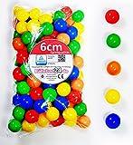 koenig-tom 500 Unidades de Bolas de 6 cm para niños, Pelotas de plástico sin plastificantes (Certificado TÜV = Pruebas continuas Desde 2012)