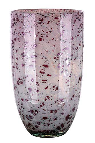 Jarrón de cristal de diseño artístico – objeto decorativo de cristal en Altrosa Borgoña H 29 cm
