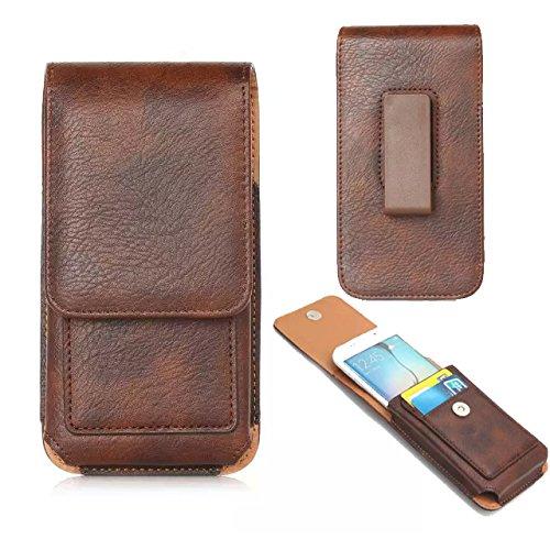 Jlyifan Funda de piel sintética para teléfono móvil 7 Plus/LG V20, LG G6, G5 G4, Microsoft Lumia 950 XL/Motorola Moto G4, G5 Plus/Z Play (marrón)