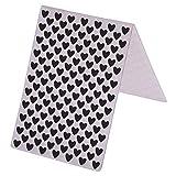 Everpert Kunststoff, mit Muster zum Ordner für einfache Karten Fotoalbum Scrapbooking-Verzierungen -