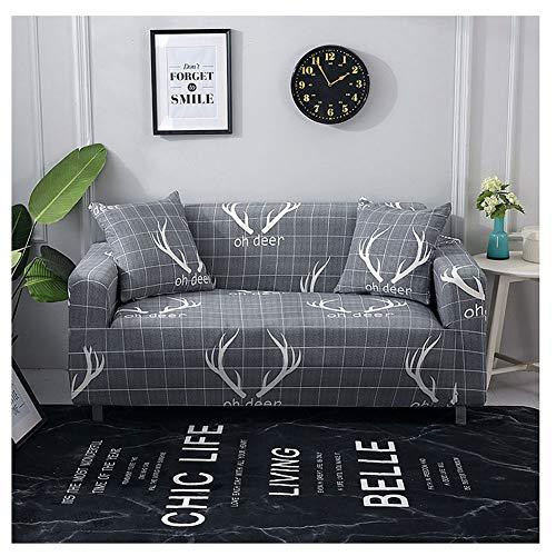 ZIXING Fashion Pastoral Estampado Funda para sofá con Correa elástica,de 1/2/3/4 plazas,Universal Protector del sofá 1 50 * 50cm(con núcleo de Almohada)