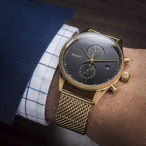 MVMT Voyager Watches   42 MM Men's Analog Watch   Eclipse Mesh