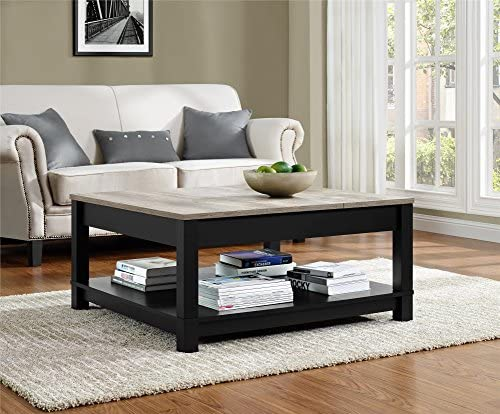 Best Ameriwood Home Carver Coffee Table, Black