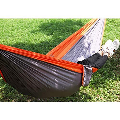 YANG extérieur Hamac Ultra-léger de Voyage Camping 300 kg Capacité de Charge 300 x 200 cm Portable Respirant Boucle en Acier Noir spécial pour Jardin Camping Randonnée Orange-260X140cm