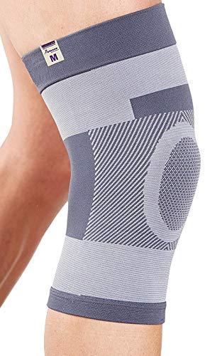 Actesso Kompression kniebandage kniestütze :: Dies kniegelenkbandage ist ideale für Knieverletzung, Zerrungen Order für Sportverletzung. Ideale für Männer & Frauen (Extra Groß (42-45))
