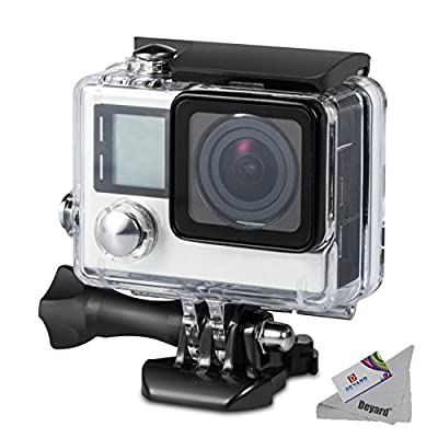 Deyard Waterproof Housing Case for GoPro Hero 4 and Hero 3+ with Quick Release Mount and Thumbscrew for GoPro Hero 4 and Hero 3+ Action Camcorder - 45 Meters Underwater Photography by Deyard Tech
