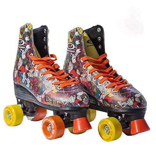 Quad Roller Skates for Girls / Kid's Toddler with High Top Shoe Style for Indoor/Outdoor Skating | Durable, Easy to Skate, Made for Kids