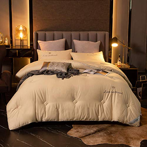 CHOU DAN Duvet/Quilt,Super Thick And Warm Duvet Doubled In Size-Energy Saving-200 * 230/Total Weight 4kg_champagne
