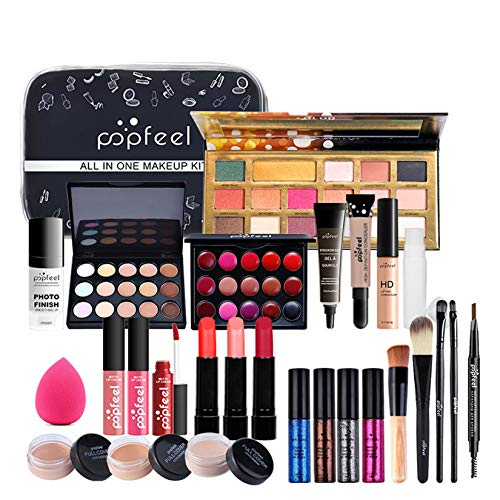 FantasyDay 28 Pcs Set di Trucchi Kit di Bellezza Cosmetici Kit per Occhi, Viso e Labbra - Natale Regalo Makeup Beauty Set con...
