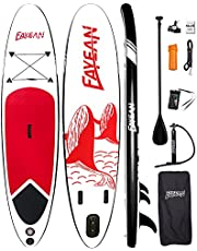 Inflatable Stand Up Paddle Board 10'x28 x6 Round SUP Board Include Hand Pump, Paddle, Backpack, Coil Leash,Carry Bag, Repair Kit and Waterproof Case