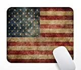 Gaming Mouse Pad - Vintage American Flag Pattern Design Mousepad. Rectangle Non-Slip Rubber Mouse Pads for Office and Home. Personalized Mouse Mat for Desktops, Computer, PC and Laptops.