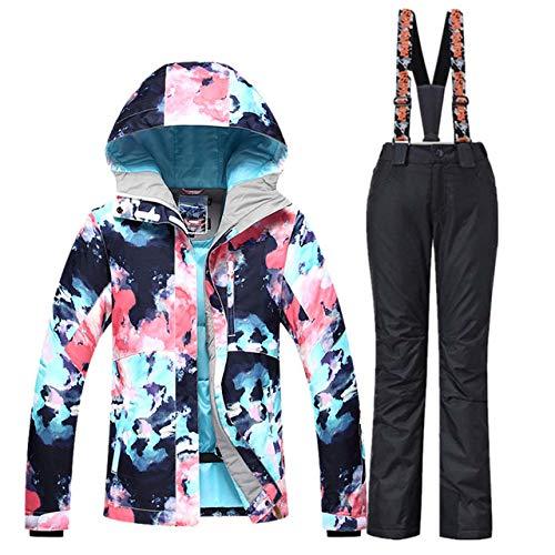 AOIUGE Skianzug Skianzug Damen Skijacke Snowboardhose Winter Wasserdicht Outdoor Günstige Skianzug Damen Sportbekleidung, Set1, S