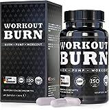 Workout Burn, exklusive Formel L-Arginin und L-Citrullin speziell während Workout, 60 vegane...