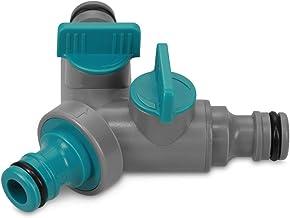 fliessende Regulierung des Wasserdurchflusses Cellfast 2-Wege-Verteiler Ergo erm/öglicht einen gleichzeitigen Anschluss von Zwei Anlagen an einen Wasserhahn Schwarz 53-220