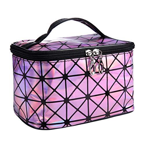 Cosmético Bolsa Bolso cosmético del laser 3D de las mujeres, bolso del almacenamiento del bolso del viaje, neceser de gran capacidad impermeable Profesional Neceser neceser viaje pequeño