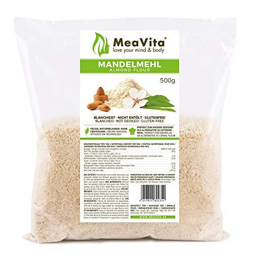 Harina de almendras MeaVita, natural, escaldada, 1 envase (1 x 500g) en bolsa