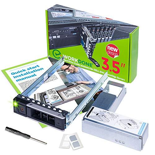 WORKDONE Caddy per Disco Rigido da 3,5 Pollici per Server PowerEdge dell - R340 R440 R540 R640 R740 R740xd2 R6415 R7415 R7425 di 14° Generazione - con