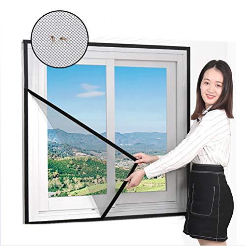 ZHZW Fliegengitter, selbstklebend, magnetisch, Fenster, Fenster, Magnetstreifen, gegen Mücken, automatischer Verschluss, geeignet für Fenster, 110x110cm(43x43inch)