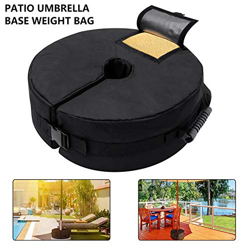 Bolsa de pesas con base sombrilla, bolsa arena desmontable para sombrilla redonda con sombrilla redonda para playa, bolsa de pesas con base para carpa, resistente, resistente a la intemperie,20IN