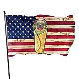 Kenice Garten Flagge,Garten Fahne Vertikal,Willkommensflagge,Verandafahne,3X5 Ft, Burrito Mops Flagge