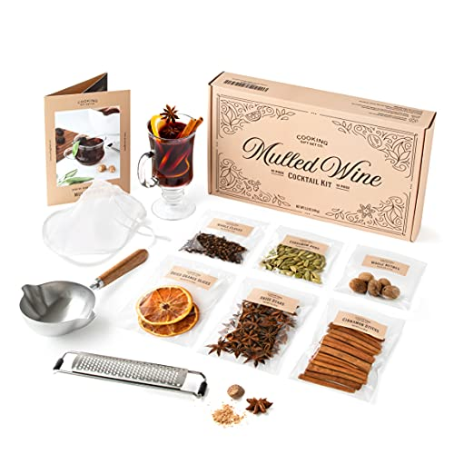 Cooking Gift Set Co. Mulled Wine Gift Set | 10-Piece Cocktail Kit | Wine Gifts for Women, Wife Gifts, Alcohol Gifts for Women Who Have Everything