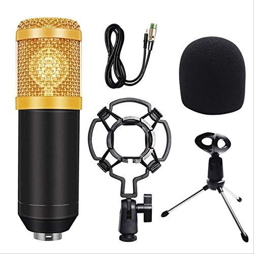 RRYM Microfoons Microfoon Condenser Geluidsopname Microfoon Kit Shock Mount+Foam Cap+Kabel Voor Radio Broadcasting Zingen B 4