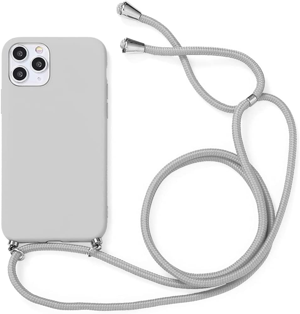 Yoedge Crossbody Case for OnePlus 7T, Neck Cord Phone Case with Adjustable Lanyard Strap, Soft TPU Silicone Shock-Proof Cover Compatible with OnePlus 7T [6.55