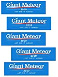 Artisan Owl Giant Meteor 2020 Just End it Already - Funny Auto Car Politics 3x10 Bumper Stickers (5 Stickers)