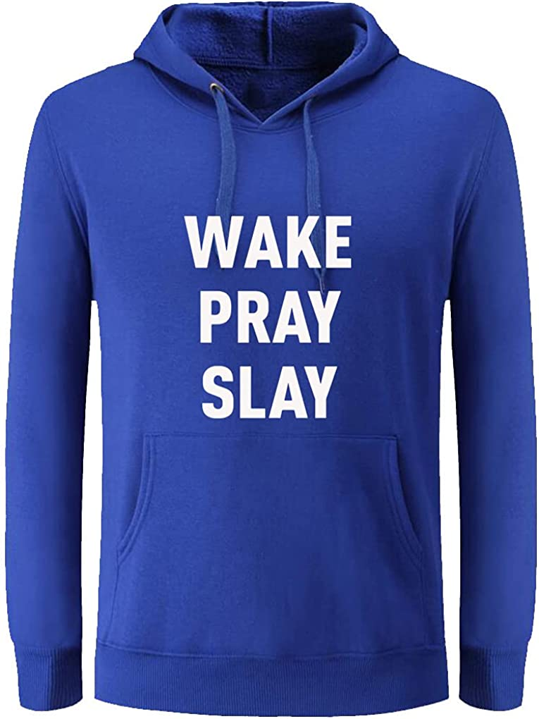 Unisex Clothes Wake Pray All Day Fashion Letter Print Pullover